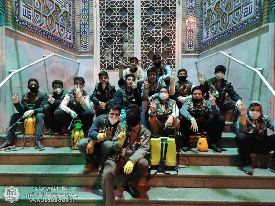 گزارش تصویری فعالیت های گروه جهادی شهید جوانتاش در ایام شروع کرونا
