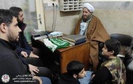 ارتباط صمیمی بسیجیان با امام جماعت محترم مسجد سادات اخوی
