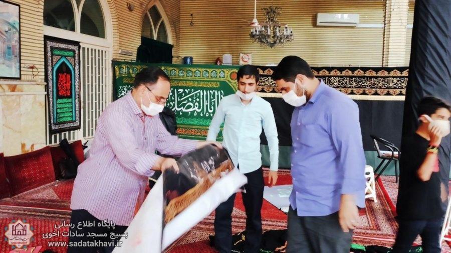 تصاویر مراسم سیاه پوشان مسجد سادات اخوی برای محرم سال ۹۹